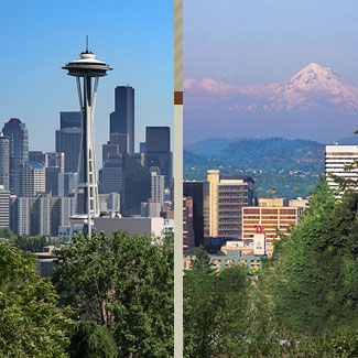 Seattle Washington & Portland Oregon
